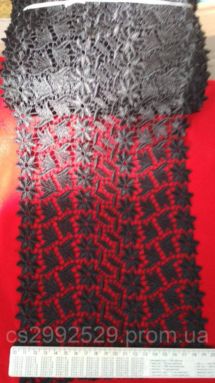 Кружево чёрное 20 м.моток. Кружево макраме для пошива и декора одежды