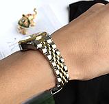 Наручные женские часы с золотистым браслетом код 374, фото 2