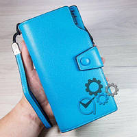 ГОЛУБОЙ Стильный Женский клатч (портмоне, кошелёк) Baellerry Elite (байлери) жіночий гаманець УДОБНО !