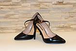 Туфли женские черные на каблуке Т917, фото 4
