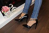 Туфли женские черные на каблуке Т917, фото 5