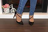Туфли женские черные на каблуке Т917, фото 6