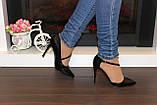 Туфли женские черные на каблуке Т917, фото 7