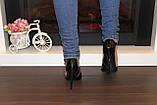 Туфли женские черные на каблуке Т917, фото 8