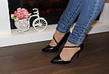 Туфли женские черные на каблуке Т917, фото 9