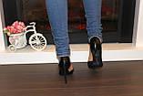 Туфли женские черные на каблуке Т916, фото 5