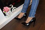 Туфли женские черные на каблуке Т916, фото 6