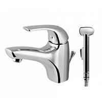 Смеситель для умывальника с гигиеническим душем AM.PM SENSE F7504000