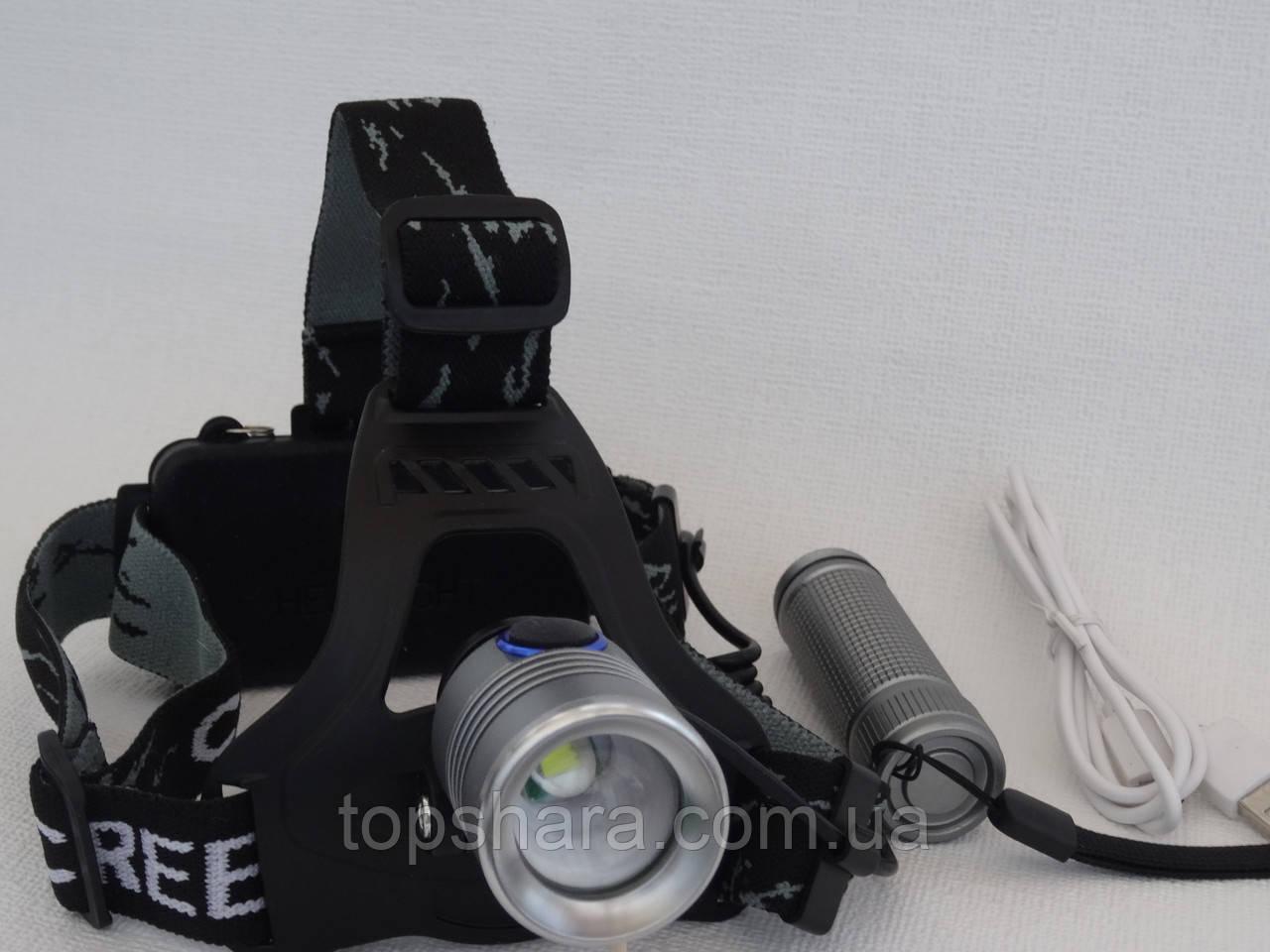 Фонарик налобный+ручной 2в1 Police BL-TS18-T6 158000W