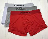 Трусы Мужские БОКСЕРЫ шортики КРАСНЫЕ Balenciaga Баленсиага  Хлопок , чоловічі труси боксери