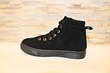 Ботинки женские черные замшевые Д537, фото 2