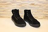 Ботинки женские черные замшевые Д537, фото 3