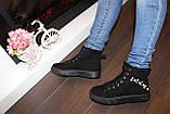 Ботинки женские черные замшевые Д537, фото 5