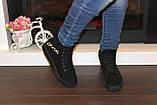 Ботинки женские черные замшевые Д537, фото 6