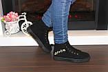 Ботинки женские черные замшевые Д537, фото 7