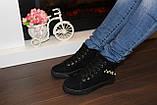 Ботинки женские черные замшевые Д537, фото 9