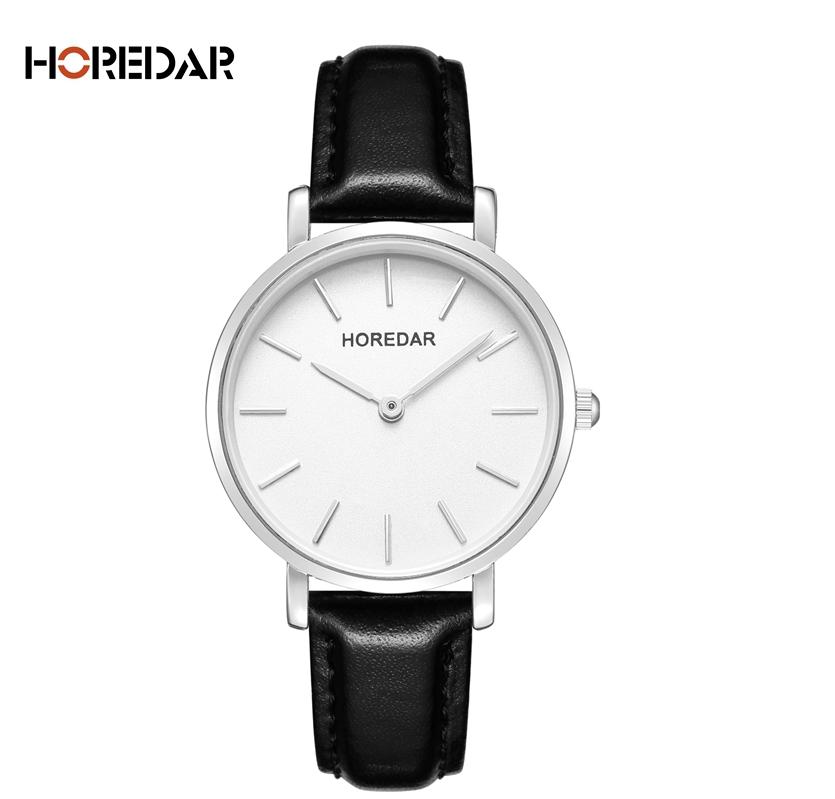 Наручные женские часы с черным ремешком код 382