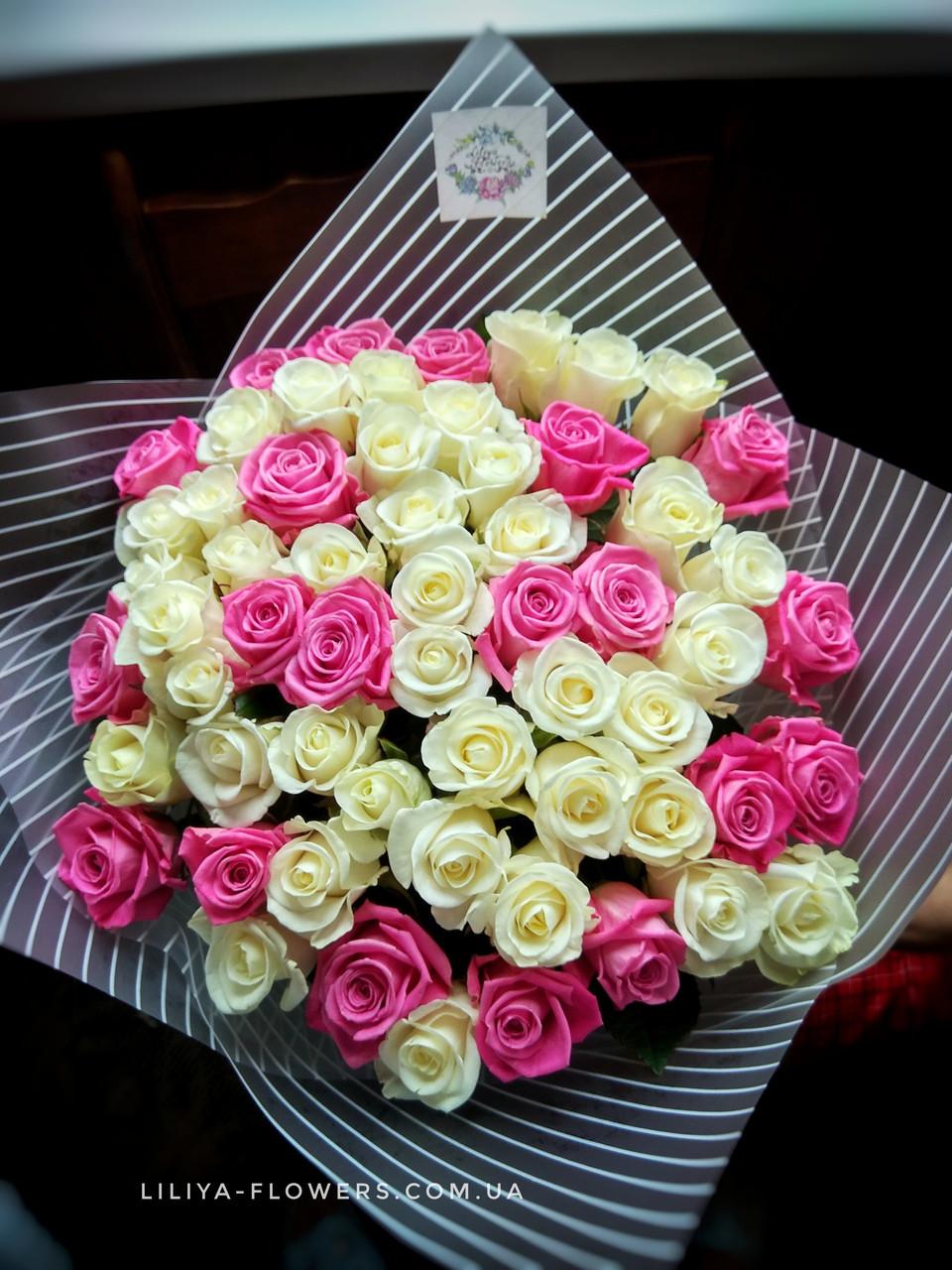 Букет 51 роза 60 см