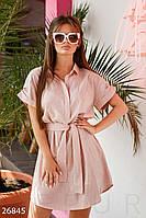 Платье-рубашка женское льняное