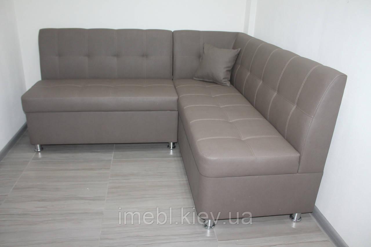 Кухоннный уголовой диван в кож заме (Какао)