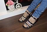 Босоножки женские черные на каблуке Б913, фото 3