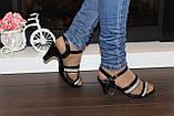 Босоножки женские черные на каблуке Б913, фото 6