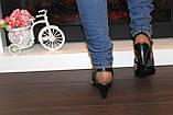 Босоножки женские черные на каблуке Б913, фото 7