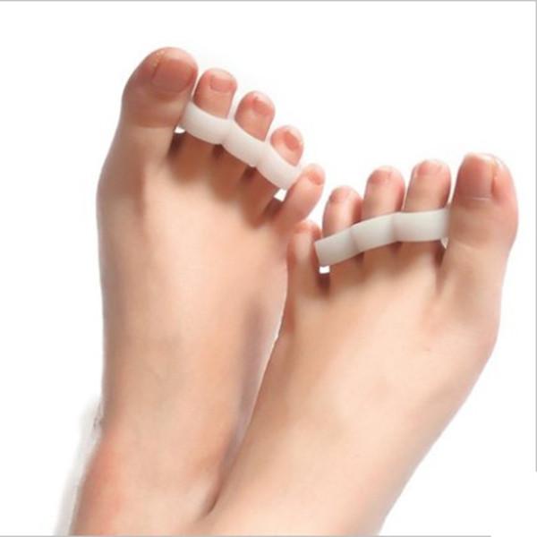 Силиконовый Гель Сепаратор пальца ноги Корректор пальца Выпрямитель для ног Hammer Подставка для ног Подголовник Подушка для облегчения бол - 1TopShop