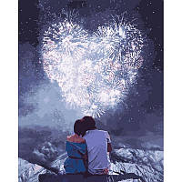 """Картина по номерам. Люди """"Влюбленные сердца"""" 40*50см KHO4527"""