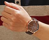 Кварцевые наручные мужские часы с черным ремешком код 385, фото 2