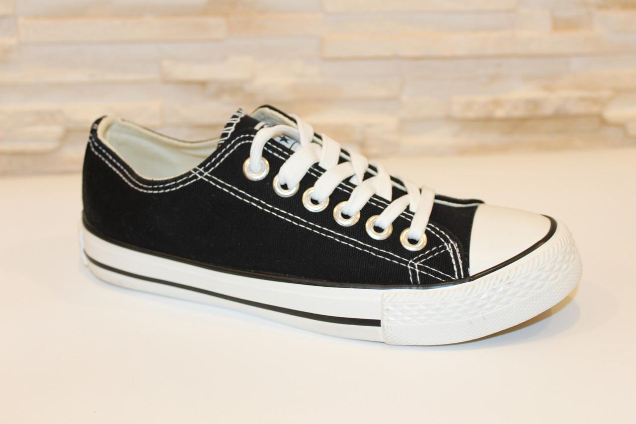 Кеды черные модные Т997