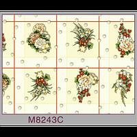 Клеенка (8243C) силиконовая, без основы, рулон. Китай. 1,37м/30м