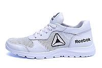 Мужские кожаные летние кроссовки, перфорация Reebok Classic  White (реплика), фото 1