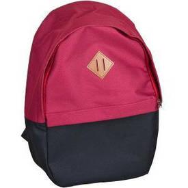 Рюкзак 1 отд. /1 карман LEADER бордовый/черный 40×27×13 см 10004 /980189      10004/980189