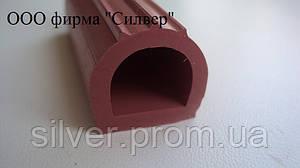 Уплотнитель силиконовый D-профиль 18х18мм