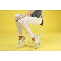 Туфли женские белые из натуральной кожи с перфорацией
