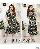 Романтичное платье в цветок размеры с 50 по 60 , фото 2