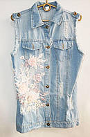 Жилетки джинсовые (р.р. М-XL) Китай, от 3шт.