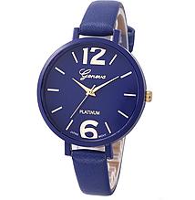 Наручний годинник Женева з синім ремінцем код 245