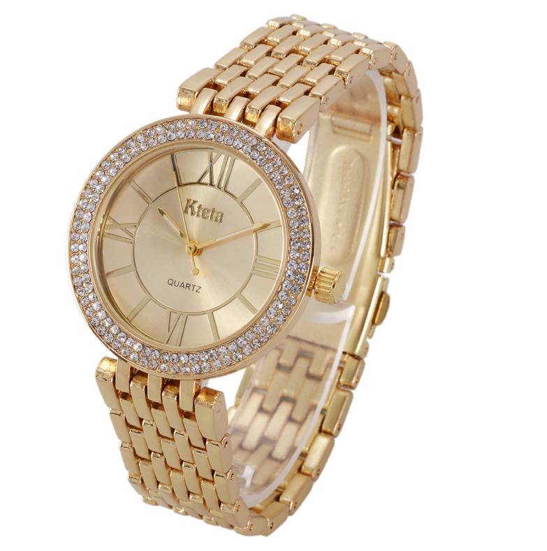 Наручные часы женские с золотистым ремешком код 392
