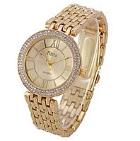 Наручные часы женские с золотистым ремешком код 392, фото 1