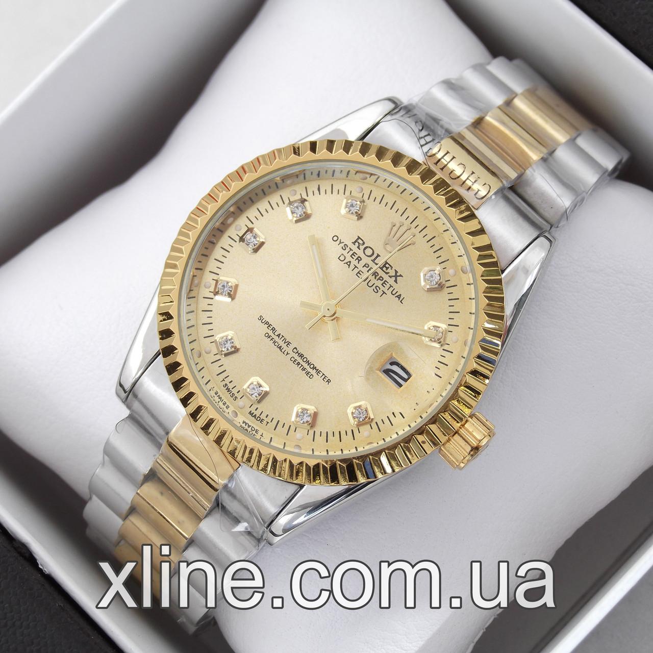 Женские наручные часы Rolex M139 на металлическом браслете