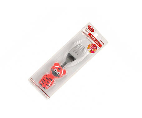 Вилка детская с пластиковой ручкой Helios 14 см, фото 2