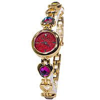 ★Наручные часы Pollock Изумруд Red женские с камнями кварцевые