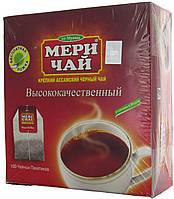 """Чай черный индийский """"MeriChai"""""""" Ассам"""" 100пак 200г.(+ложка)"""