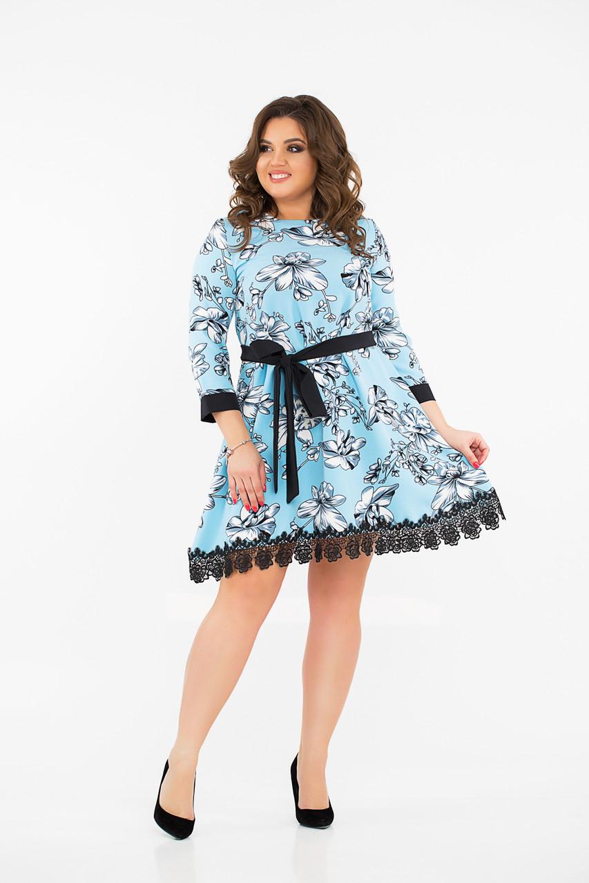 Платье  LiLove 8- 1132 50-52 бирюзовый