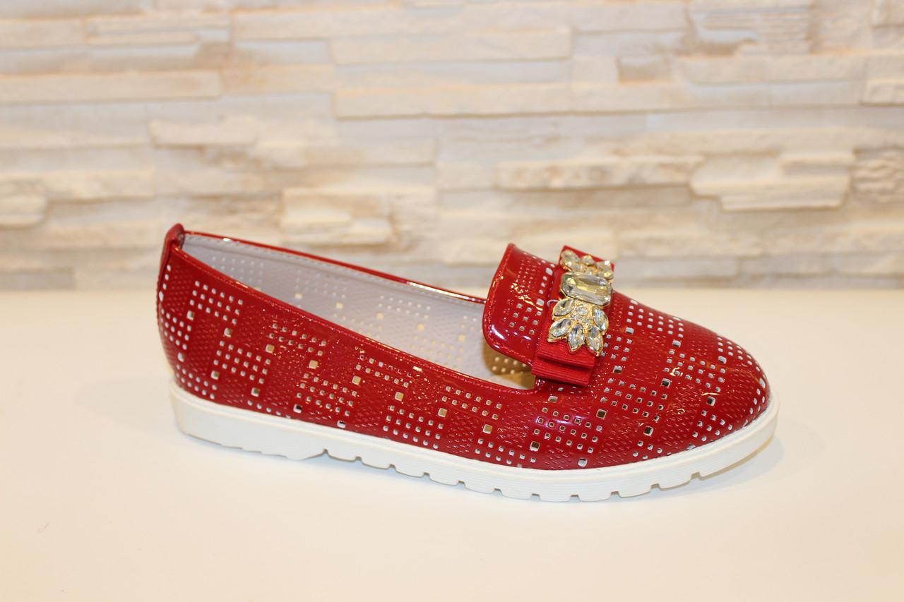 Туфли женские красные лаковые код Т245