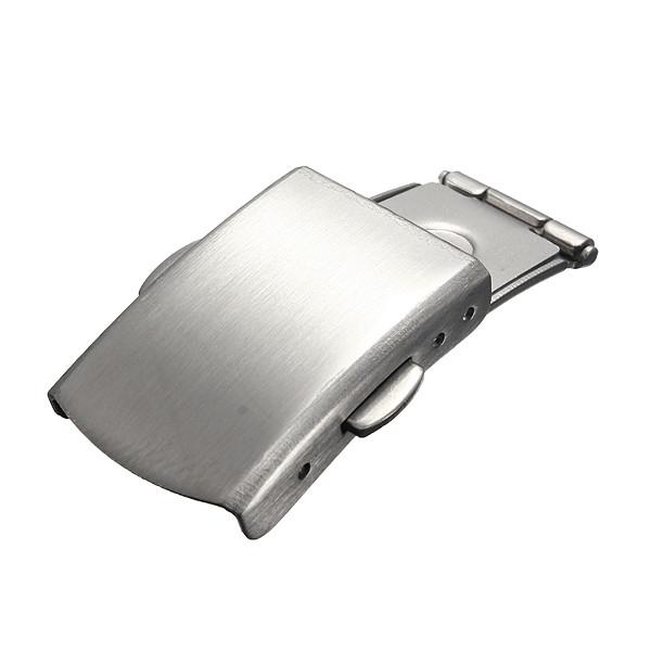 Металлические часы ремешок ремешок из нержавеющей стали кнопка складка над застежкой пряжкой - 1TopShop