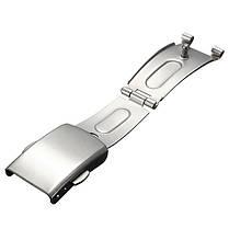 Металлические часы ремешок ремешок из нержавеющей стали кнопка складка над застежкой пряжкой - 1TopShop, фото 2