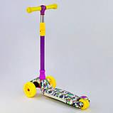 Самокат 77688 Best Scooter с ПОДСВЕТКОЙ ПЛАТФОРМЫ, 4 колеса PU со светом, d=12 см, фото 2